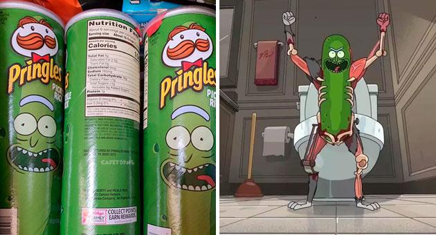 Pringles sabor Pickle Rick