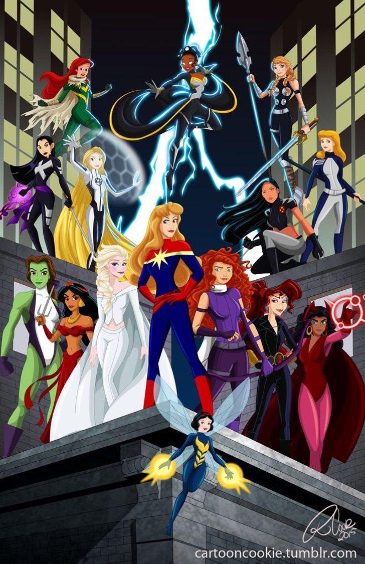 ilustraciones de princesas disney