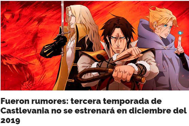 tercera temporada de castlevania