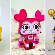 Descargar plantillas de papercraft de tu series animadas favoritas