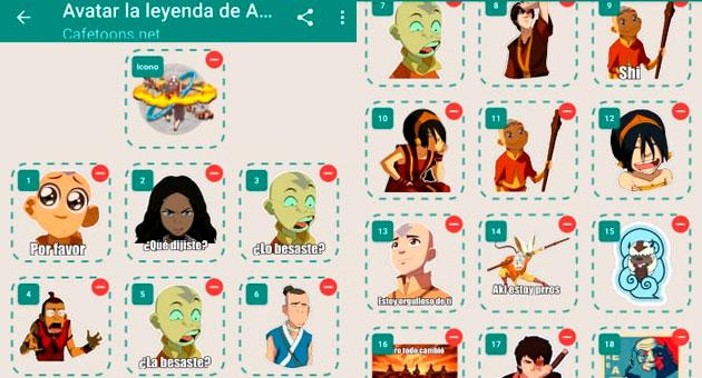 stickers de Avatar la leyenda de Aang